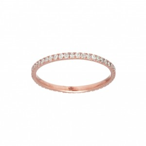 Ring Promesse, Rose gold,...