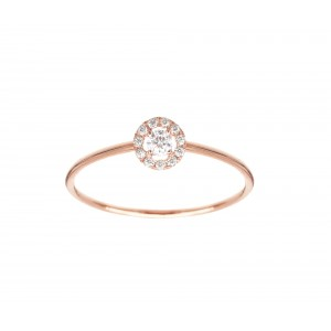 Bague Or rose et Diamants -...