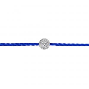 Identity 925银钻石红绳手链