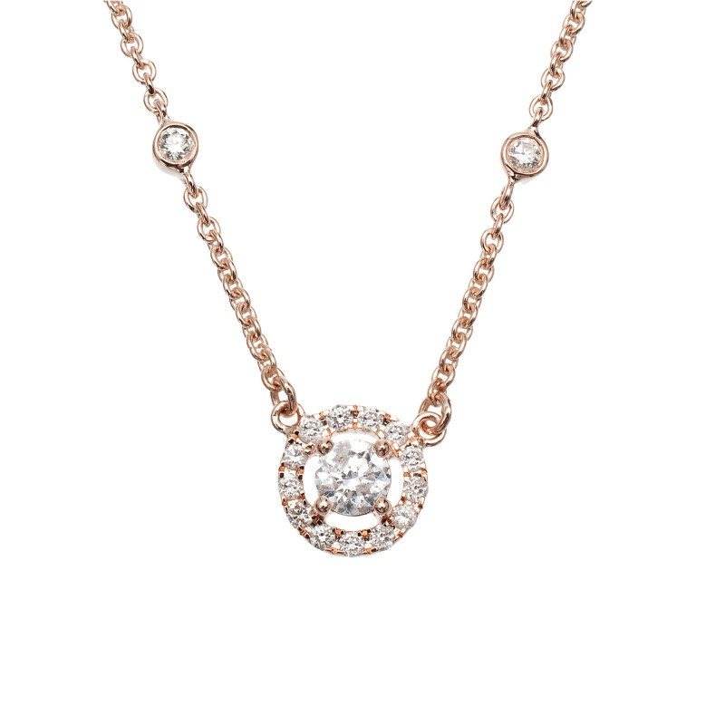 collier or rose homme