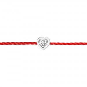 Heart thread Bracelet white...