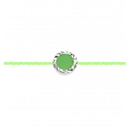 PROMESSE - Boucle d'Oreilles Créoles, Semi-pavées de diamants