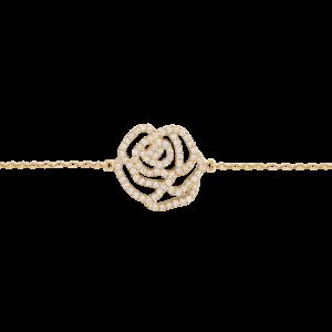Rose Bracelet, Yellow gold,...