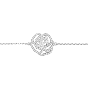 Bracelet La Rose, Or blanc,...