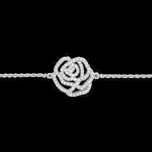 Rose Bracelet, White gold,...