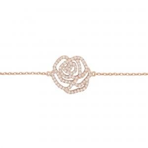 Bracelet La Rose, Or rose,...