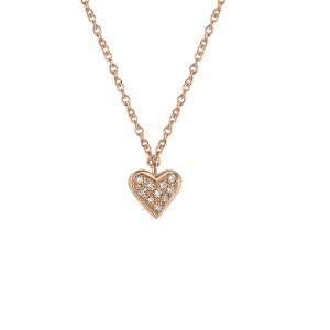 Collier pendant Or rose et...