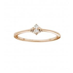 Bague Or rose et Diamants -...