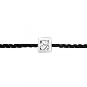Bracelet Fil, Or blanc,...