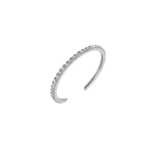 Open nuckle Ring White gold...