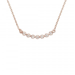 Collier Or rose et diamants...