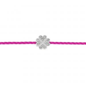Bracelet fil trèfle Argent...