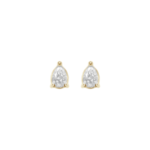 Earrings, Yellow gold, Pear...