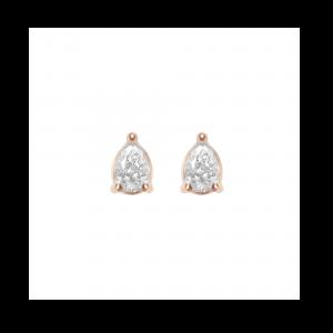 Earrings, Rose gold, Pear...