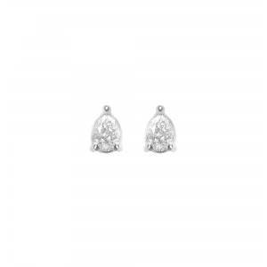 Earrings, White gold, Pear...