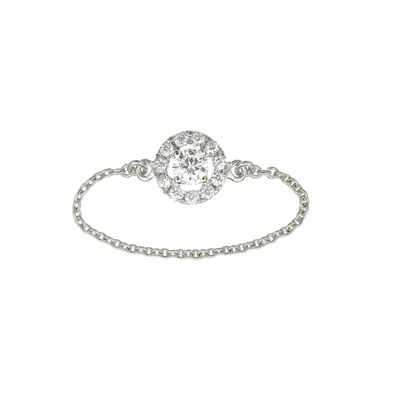 bague diamant chaine