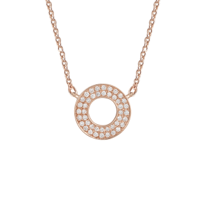 Collier Cible, Or rose,...