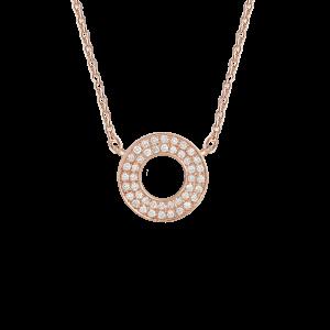 Target Necklace, Rose gold,...
