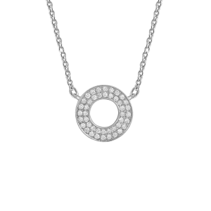 Target Necklace, White...