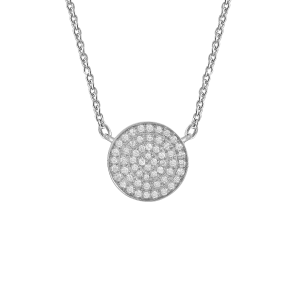 Necklace Full Target, White...