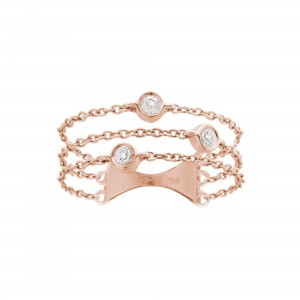 Trilogy Ring, Rose gold,...