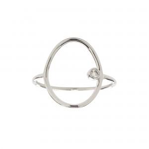 Oval Ring, White gold, Diamond
