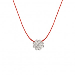 Clover thread Necklace...