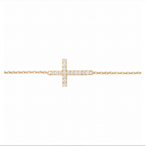 Bracelet Cross, Or jaune,...