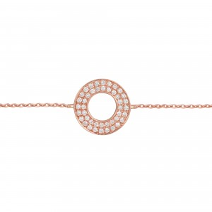 Bracelet Cible, Or rose,...