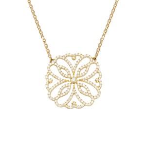 Hibiscus 项链:黄金、钻石