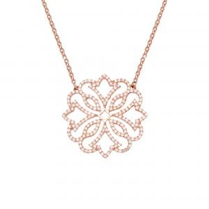 Exotic 项链: 玫瑰金、钻石