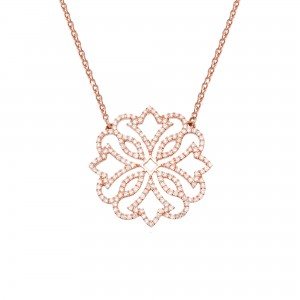 Exotic Necklace, Rose gold,...