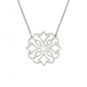 Collier Exotique, Or blanc,...