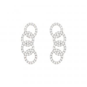 Boucles d'oreilles Or blanc...