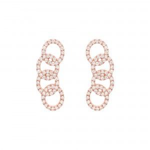 Earrings rose Gold and...