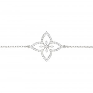Bracelet Lily Flower, White...
