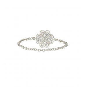 Chain Ring Clover White...