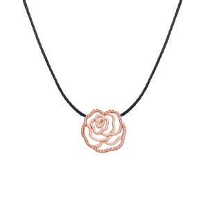 Collier fil Plaqué or rose...
