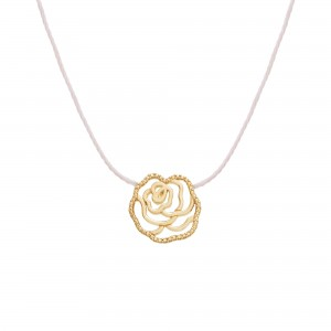 Thread Necklace yellow gold...