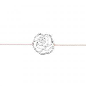 Bracelet fil Argent - LA ROSE