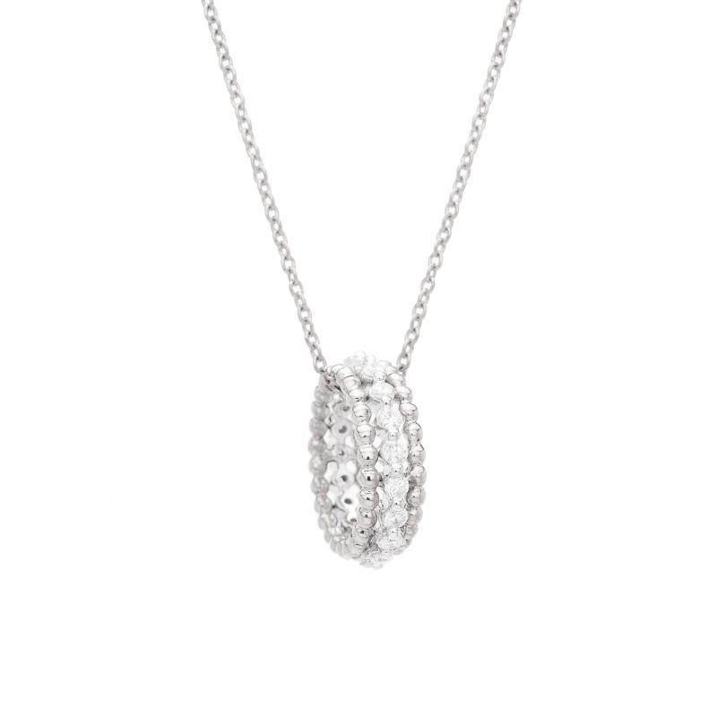 collier or blanc femme diamant