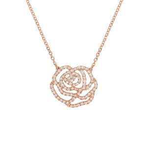 Collier La Rose, Or rose,...