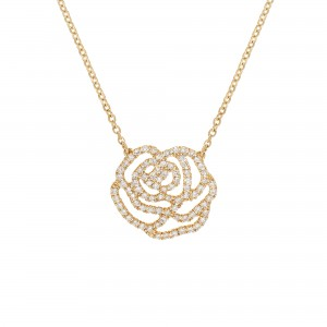 Collier La Rose, Or jaune,...