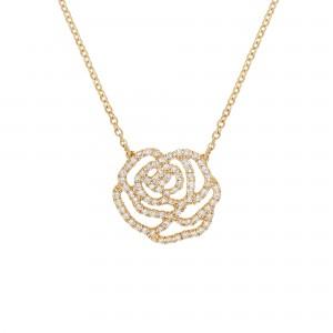 Collier La Rose, Or jaune,...