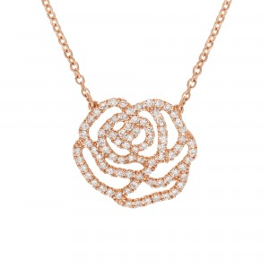Necklace large size rose...