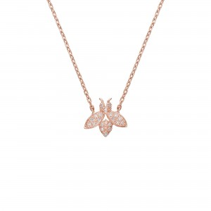 Necklace plated rose gold...