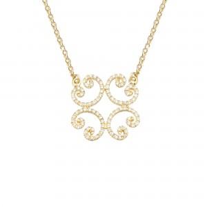 Celte 项链:黄金、钻石