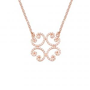 Celt Necklace, Rose gold,...