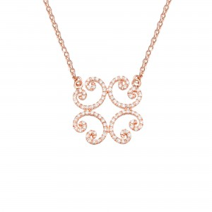 Collier Celte, Or rose,...