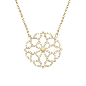 Broderie 项链:黄金、钻石